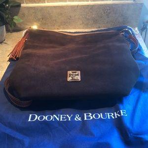 Dooney & Brouke Dixon Brown Suede Shoulder Bag